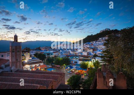 View over Chefchaouen, Morocco, North Africa - Stock Photo