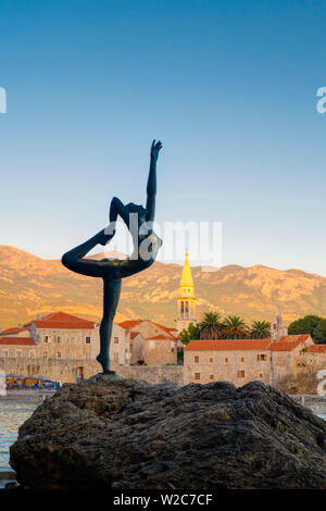 Montenegro, Budva, Sculpture - Stock Photo