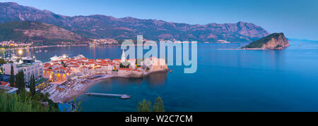 Montenegro, Budva, Old Town, Stari Grad - Stock Photo