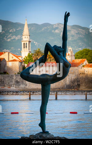 The Dancer, Stari Grad (Old Town), Sveti Ivan, Budva, Montenegro - Stock Photo