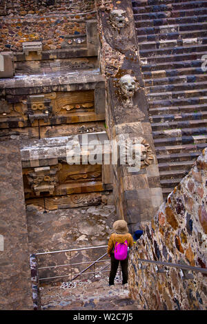 Mexico, Mexico City, Temple Of The Feathered Serpent, Temple Of Quetzalocatl, Pyramid, Teotihuacan, Ancient Civilization - Stock Photo