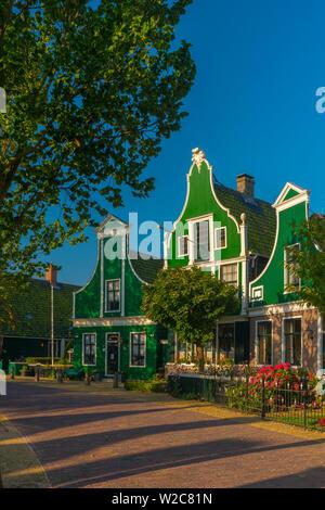 Netherlands, North Holland, Zaandam, Zaanse Schans, part of European Route of Industrial Heritage - Stock Photo