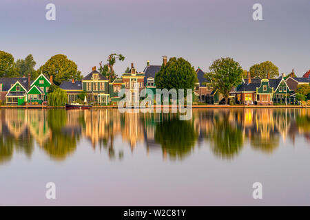 Netherlands, North Holland, Zaandam, River Zaan - Stock Photo