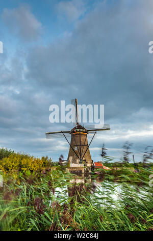 Netherlands, South Holland, Kinderdijk (UNESCO World Heritage Site) - Stock Photo