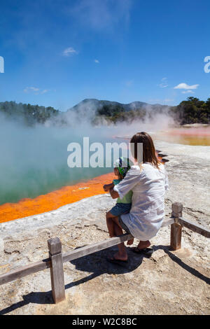 Champagne Pool, Wai-O-Tapu, Rotorua, North Island, New Zealand - Stock Photo