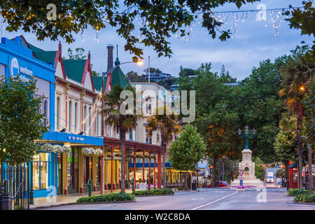 New Zealand, North Island, Wanganui, Victoria Avenue, dawn - Stock Photo