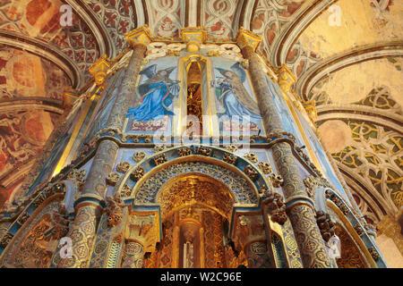 Interior of Round church, Convent of the Order of Christ (Convento de Cristo), Tomar, Portugal - Stock Photo