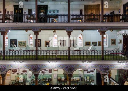 Romania, Bucharest, Tailors Synagogue, housing the Jewish History Museum, interior - Stock Photo