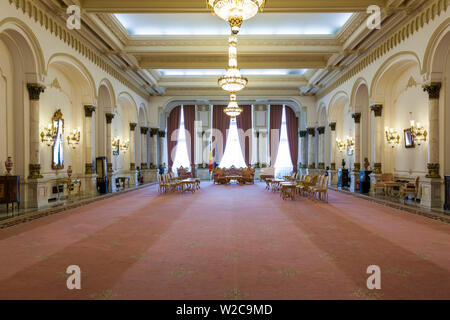 Romania, Bucharest, Palace of Parliament, world's second-largest building, governmental reception hall - Stock Photo
