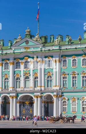 Winter Palace, State Hermitage Museum, Saint Petersburg, Russia - Stock Photo