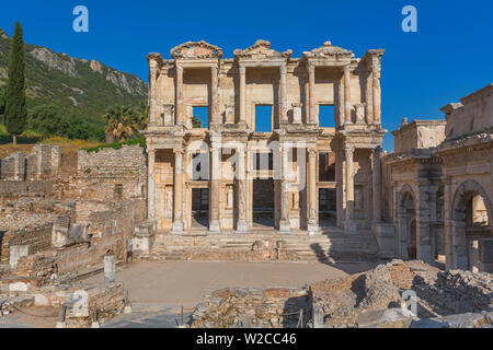 Library of Celsus, Ruins of ancient Ephesus, Selcuk, Izmir Province, Turkey - Stock Photo