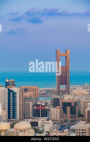 Bahrain, Manama, City skyline looking towards 4 Seasons Hotel - Stock Photo