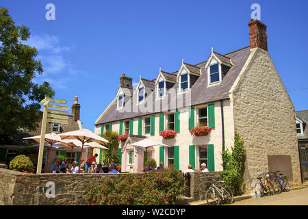 Cafe, Sark, Channel Islands, United Kingdom - Stock Photo