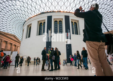 England, London, Bloomsbury, The British Museum, The Great Court by architect Norman Foster, the largest covered square in Europe - Stock Photo
