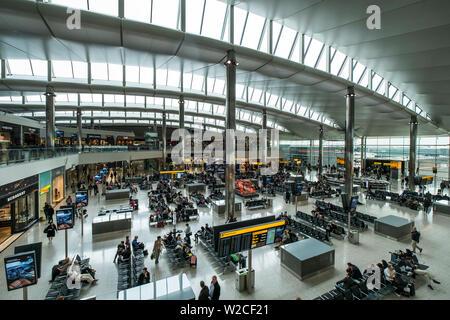Terminal 2, Heathrow, London, England - Stock Photo