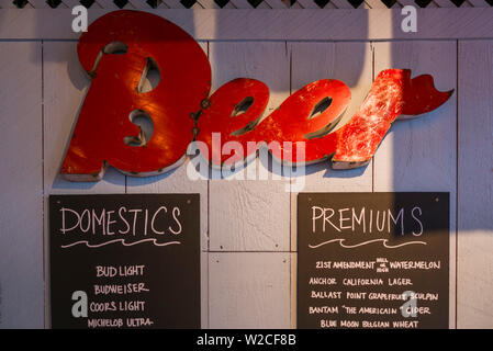 USA, Massachusetts, Cape Ann, Gloucester, bar interior - Stock Photo