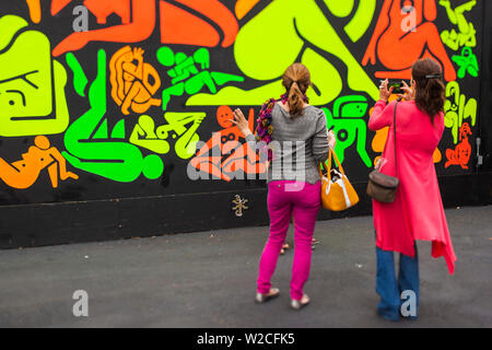 USA, Florida, Miami, Wynwood District, Wynwood Walls Art Park - Stock Photo
