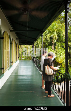 USA, Florida, Florida Keys, Key West, Hemingway House, former residence of famous American writer - Stock Photo