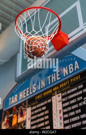 USA, North Carolina, Chapel Hill, University of North Carolina at Chapel Hill, Carolina Basketball Museum, museum of UNC's team the Tarheels