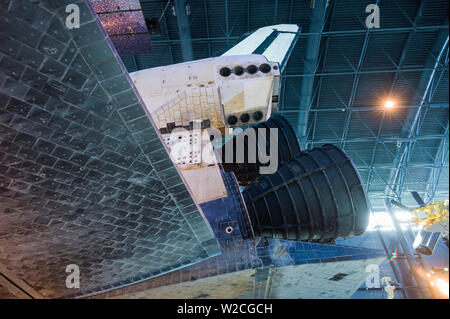 USA, Virginia, Herdon, National Air and Space Museum, Steven F. Udvar-Hazy Center, air museum, US NASA Space Shuttle, tile detail - Stock Photo