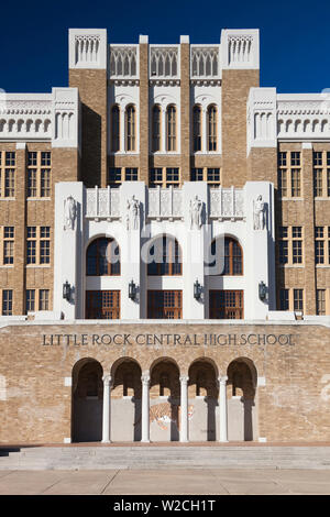 USA, Arkansas, Little Rock, Little Rock Central High School National Historic Site, site of 1954 school desegregation battles - Stock Photo