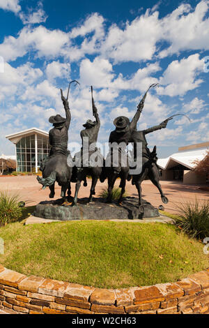 USA, Oklahoma, Oklahoma City, National Cowboy and Western Heritage Museum, Coming Through the Rye, statue by Frederick Remington - Stock Photo