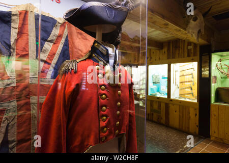 USA, Nebraska, Chadron, Museum of the Fur Trade, early 19th century British military uniform - Stock Photo