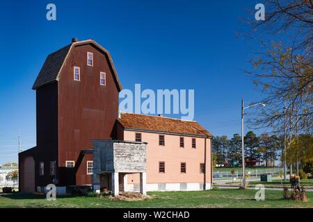 USA, Nebraska, Omaha, Historic Florence Mill - Stock Photo