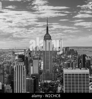 USA, New York, New York City, elevated view of midtown Manhattan from the 30 Rock viewning Platform - Stock Photo