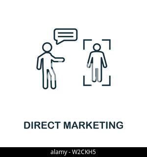 Direct Marketing outline icon. Thin line concept element from content icons collection. Creative Direct Marketing icon for mobile apps and web usage. - Stock Photo