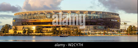 Optus Stadium on the banks of the Swan River Perth Western Australia. - Stock Photo