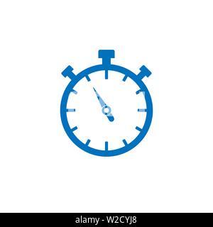 Vector illustration, flat design. Timer clock time icon - Stock Photo