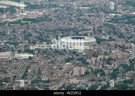 An aerial  view of the new Tottenham Hotspur football stadium, North London, UK - Stock Photo