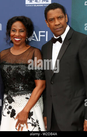AFI Honors Denzel Washington at the Dolby Theater on June 6, 2019 in Los Angeles, CA Featuring: Pauletta Washington, Denzel Washington Where: Los Angeles, California, United States When: 07 Jun 2019 Credit: Nicky Nelson/WENN.com - Stock Photo