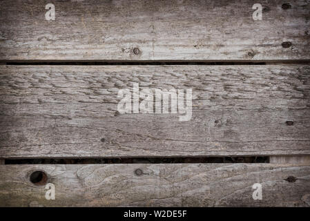 Close up of an old grey / gray wooden pallet for a background. - Stock Photo