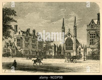 'St. Katharine's Hospital', c1876. Creator: Unknown. - Stock Photo