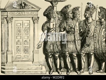 'Roman Soldiers', 1890.   Creator: Unknown. - Stock Photo
