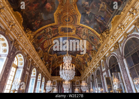 Versailes, France - 19.01.2019: Hall of Mirrors in the palace of Versailles. History