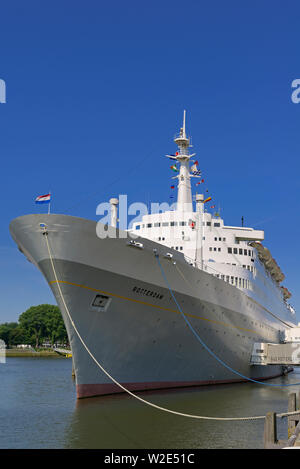 rotterdam, zuid holland / netherlands - july 08, 2013:   the historic liner vessel  ss rotterdam permanently berthed at katendrecht - Stock Photo