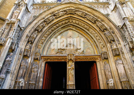 Cathédrale Saint-Sauveur in Aix-en-Provence.Aix is city and commune in Southern France. - Stock Photo