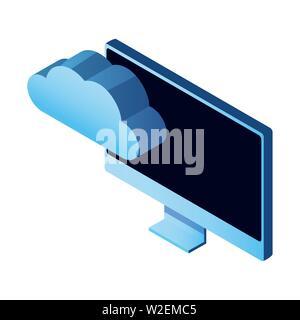cloud computing technology 3d symbol - Stock Photo
