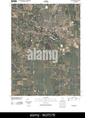 USGS TOPO Map Indiana IN Valparaiso 20100512 TM Restoration - Stock Photo