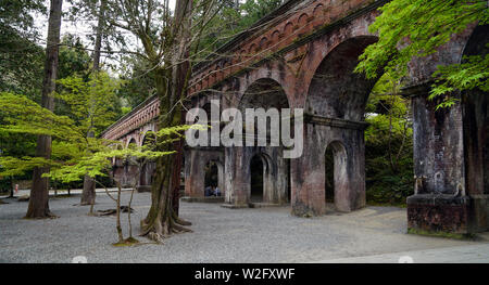 Suirokaku brick aqueduct, Nanzenji temple, Kyoto, Japan - Stock Photo