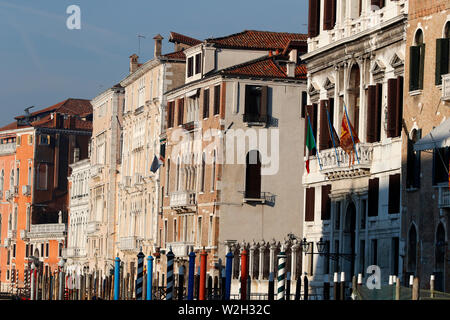 Ancient palaces on Grand Canal.  Venice. Italy. - Stock Photo