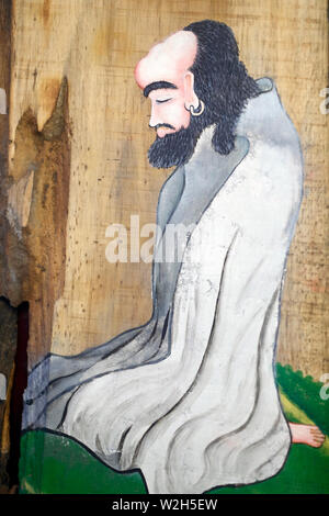 Bodhidharma (5th - 6th century ) was an Indian Buddhist monk, and is traditionally credited as the transmitter of Zen. Can Tho. Vietnam. - Stock Photo