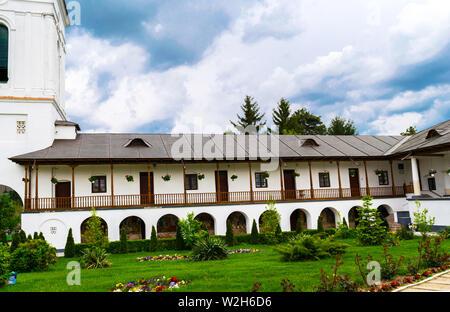 Ilfov, near Bucharest, Romania - April 30, 2019: Cernica Monastery housing rest rooms.