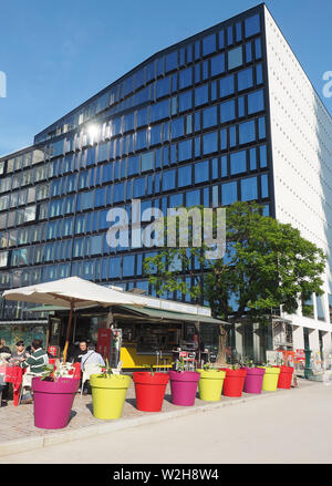 Europe , italy , Lombardy , Milan ,cafe in  Porta Nuova district - Stock Photo