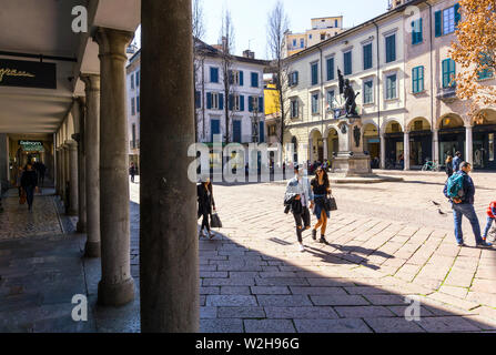 Italy, Lombardy, Varese, Piazza del Podestà - Stock Photo