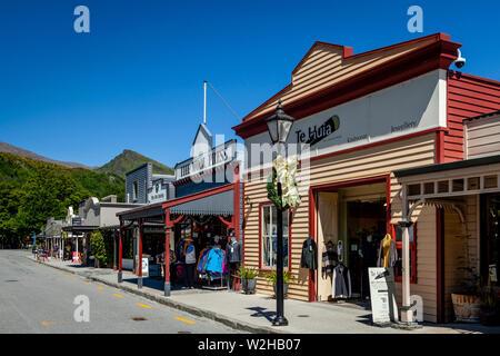 Buckingham Street, Arrowtown, Otago Region, South Island, New Zealand - Stock Photo