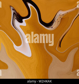 abstract yellow silk background - Stock Photo